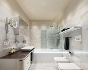 Стиль модерн интерьере ванной комнаты и не только