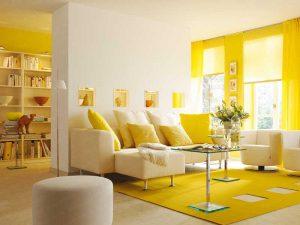 Где можно применить желтый цвет в интерьере