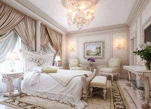Красивый и элегантный дизайн спального интерьера