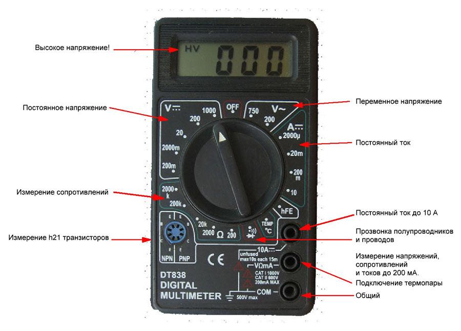 Что дает мультиметру возможность измерять температуру?